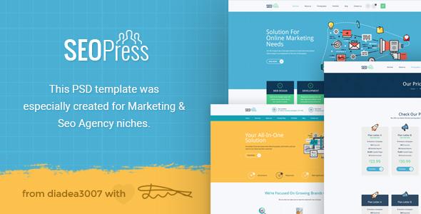 SeoPress - Seo & Digital Marketing Agency PSD Template