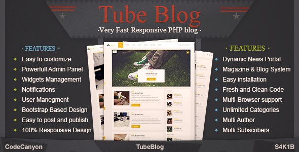 Download TubeBlog - Very fast Responsive PHP News,Blog and Magazine Portal nulled download