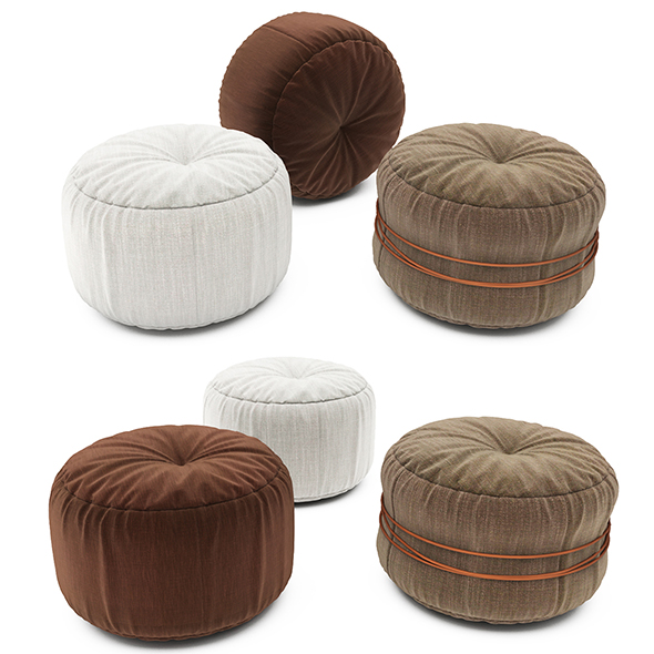 Pouf collection 08 - 3DOcean Item for Sale
