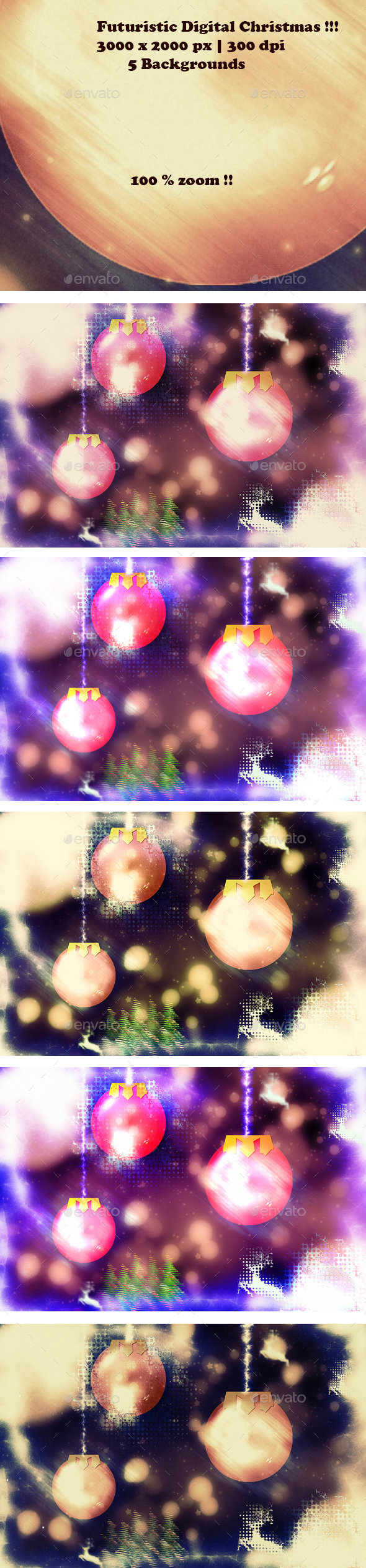 Futuristic Digital Christmas Backgrounds