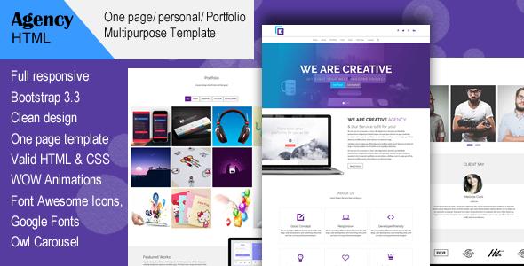 Agency- Creative Multi-Purpose HTML Template