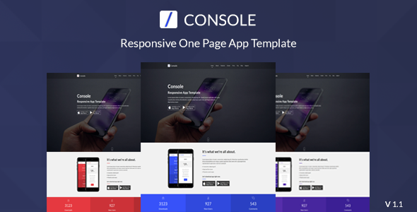Console - Responsive One Page App Template (Technology) Console - Responsive One Page App Template (Technology) 01 preview