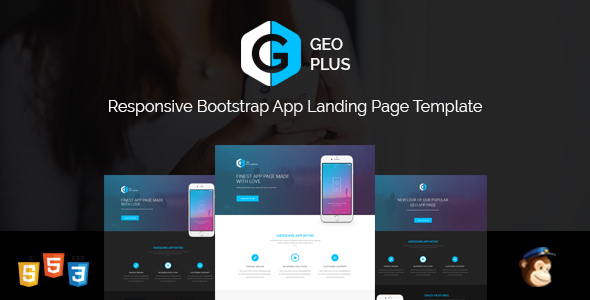 geo plus responsive app landing page template bootstrap 3 and html5 landing page nulled download. Black Bedroom Furniture Sets. Home Design Ideas