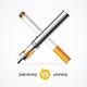 Smoking vs Vaping. Vector