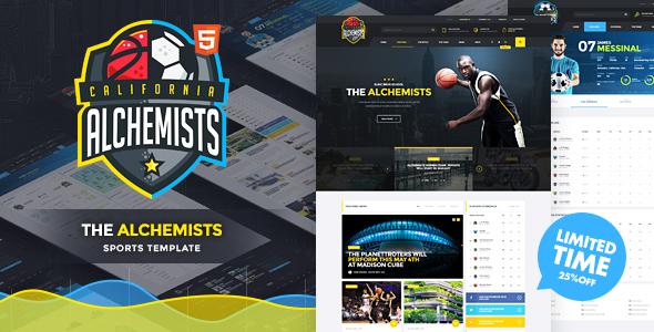 Alchemists - Sports Club & News HTML Template