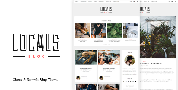Locals - Clean & Simple Blog Theme