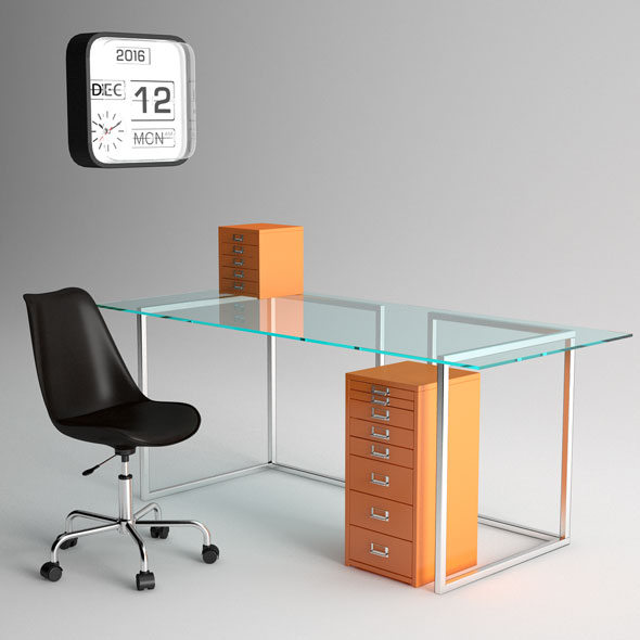 Office Furniture - 3DOcean Item for Sale