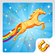 Horse runner ADMOB.LEADERBOARD.RATE BUTTON.LINK BUTTON
