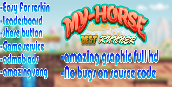 Download Horse runner ADMOB.LEADERBOARD.RATE BUTTON.LINK BUTTON nulled download