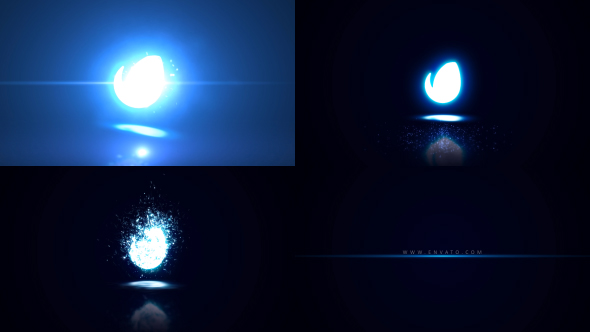Glowing Particle Logo Reveal 21 (Abstract)