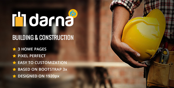 Darna – Building and Construction Drupal 8 Theme
