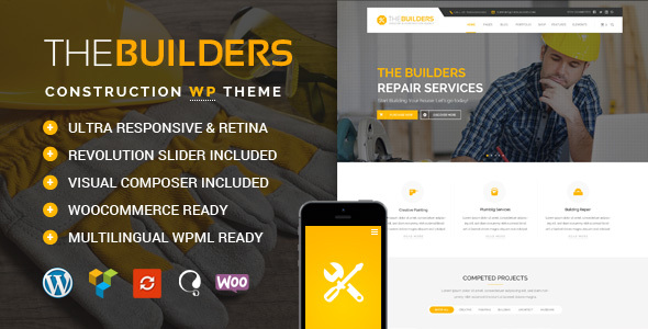 Download The Builders - Construction WordPress Theme nulled download