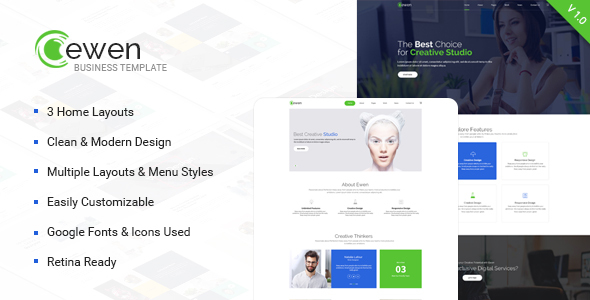 Ewen - Multipurpose Creative PSD