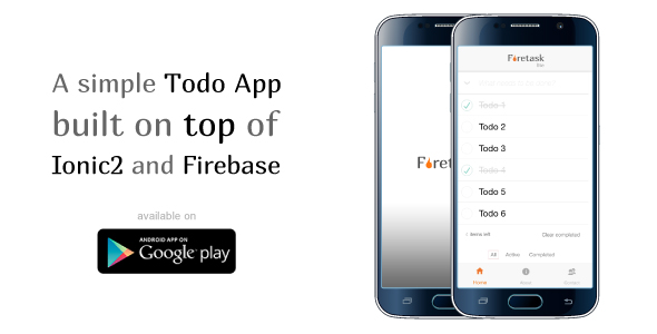 Download Firetask Lite - Ionic 2 Firebase Todo Application Template nulled download