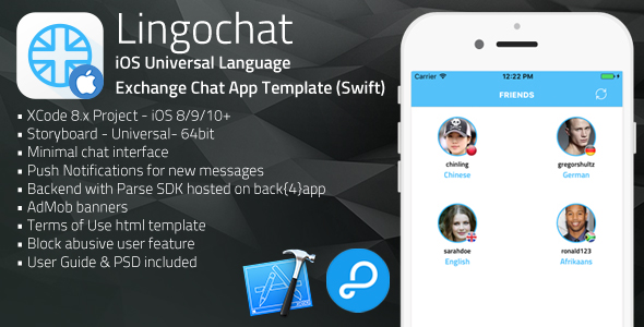 Download Lingochat | iOS Universal Language Exchange Chat App Template (Swift) nulled download