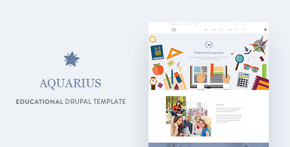 Image of Aquarius - Educational University Drupal Template
