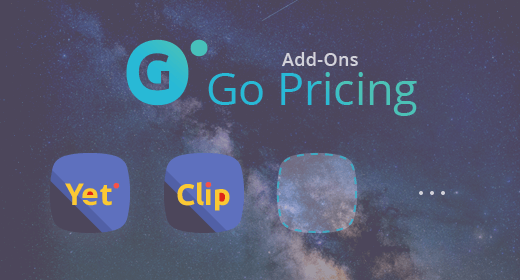 Go Pricing - Add-ons