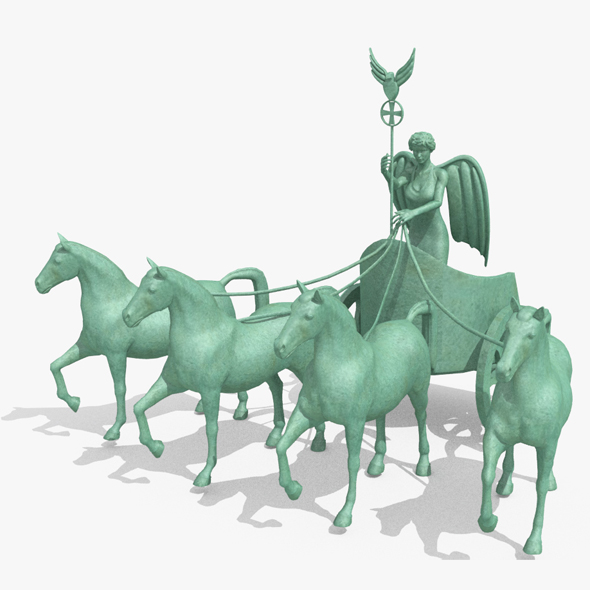 Quadriga Statue from Brandenburg Gate Berlin - 3DOcean Item for Sale