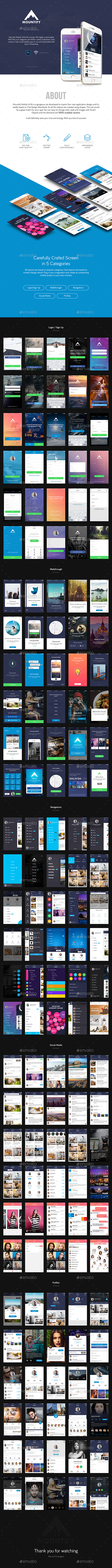 Mountify Mobile UI Kit (User Interfaces)