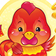 Symbol of the Chinese Horoscope - Fire Rooster