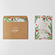 Photorealistic Invitation & Greeting Card Mockup Vol 2.0 / Bifold Edition