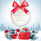 Christmas Presents with Gift Card and a Ribbon
