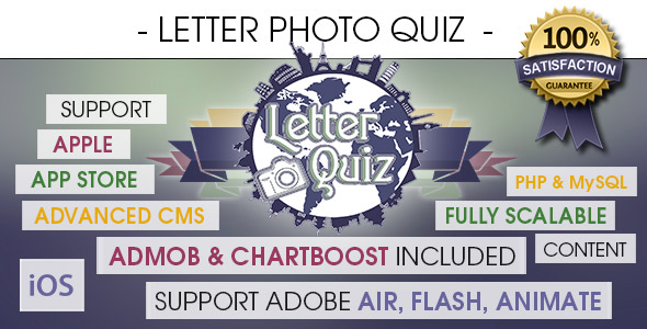 Download Letter Photo Quiz With CMS & Ads - iOS nulled download