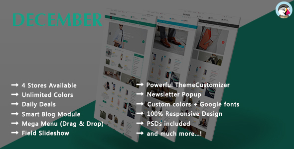 Download December - Responsive Prestashop Theme nulled download