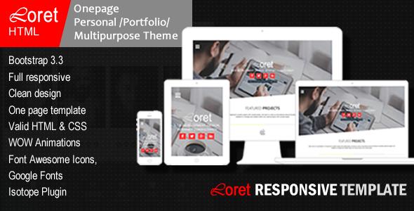 Loret- Multi-Purpose HTML Template