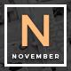 November - Multipurpose Personal WordPress Blog & Magazine Theme