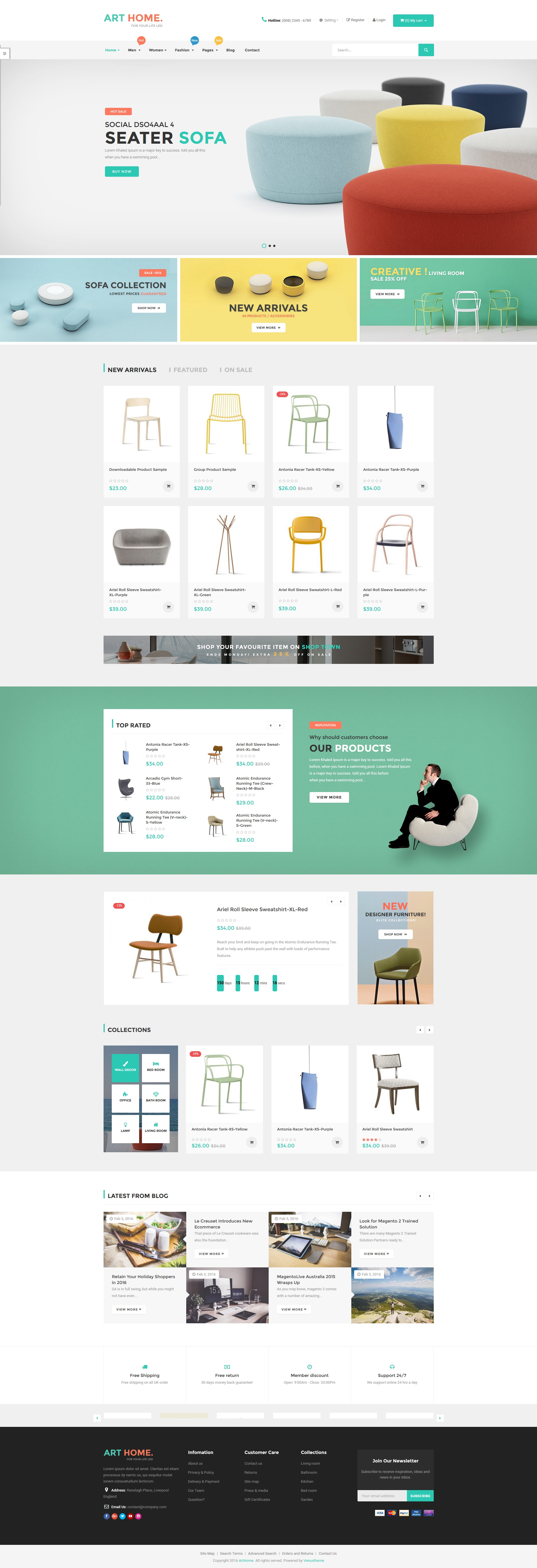 ves arthome magento template pages builder by venustheme 01 preview jpg