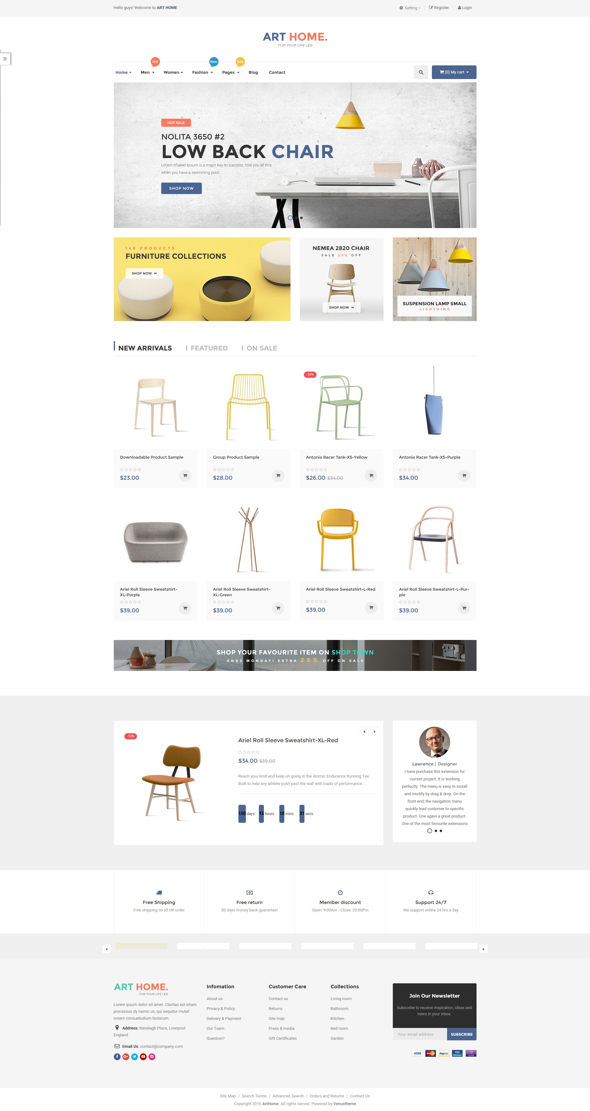 Ves arthome magento 2 template with pages builder by for Magento homepage template