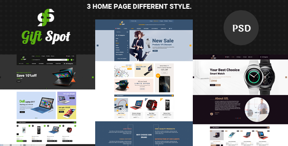 GiftShope Commerce PSD Template