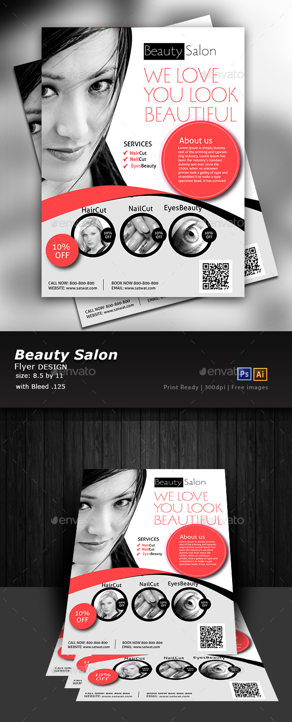 Hair Salon Flyer Graphics Designs Templates From GraphicRiver