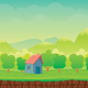 Vector Nature Game Background Template
