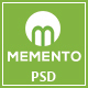 MEMENTO - One page Personal Portfolio PSD Template