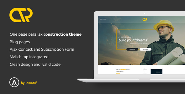 Consta - One Page Construction Html Template