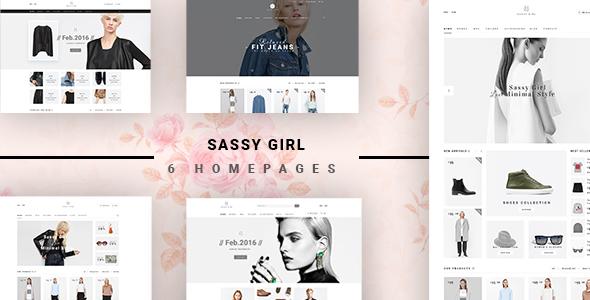 Фото Wordpress премиум шаблон  VG Sassy Girl - Responsive WooCommerce WordPress Theme — 01 preview.  large preview