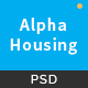 Alpha Housing - Real Estate PSD Template