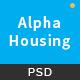 Alpha Housing - Real Estate PSD Template