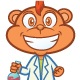 Monkey Professor Cartoon