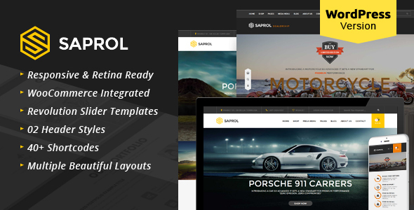 Saprol - WordPress Listing Woocommerce Theme