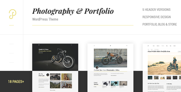 P Dojo - Photography and Portfolio Clean Minimalistic WordPress Theme