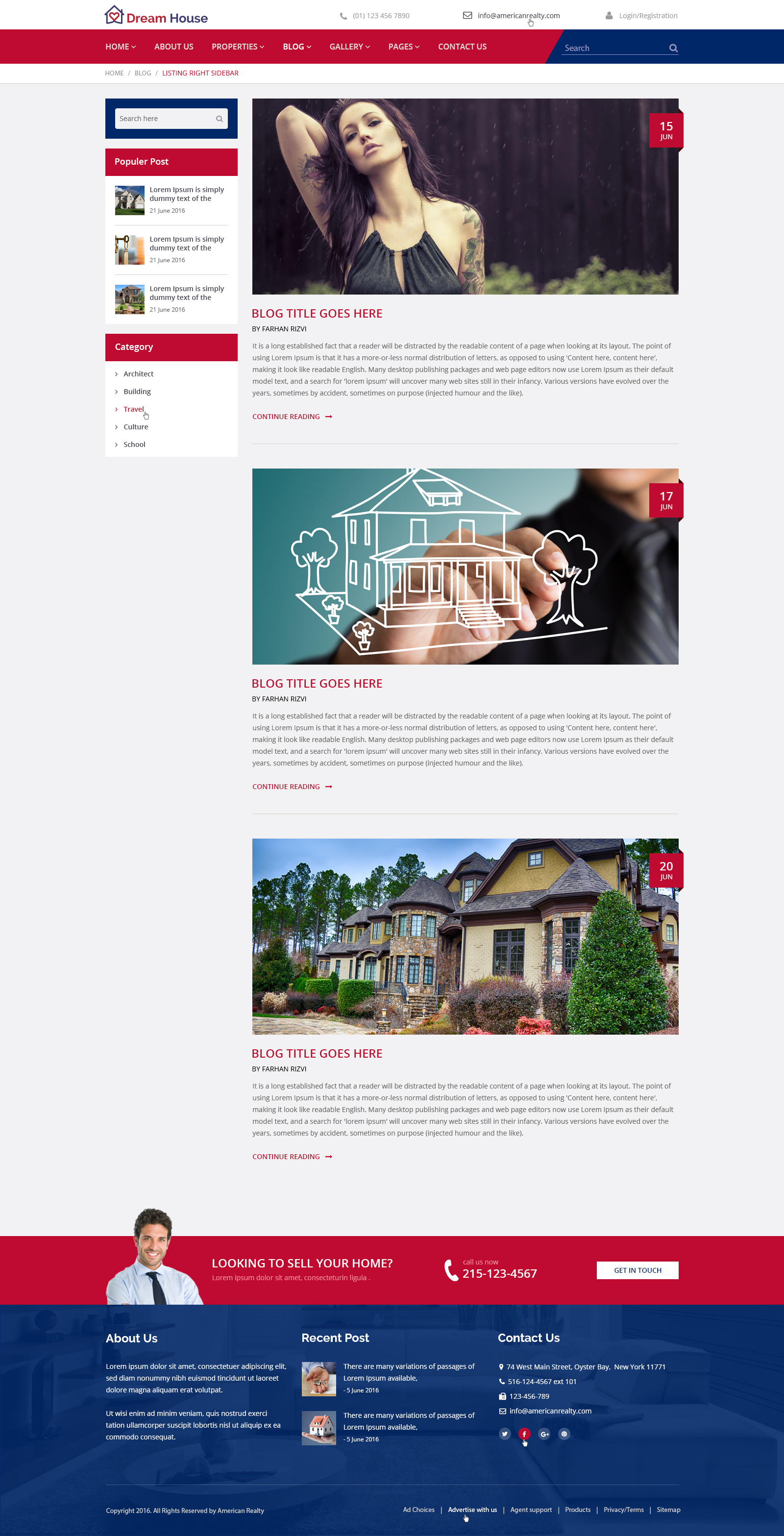 dream house real estate html template by drcsystems design dream house real estate html template