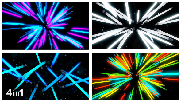 VideoHive Neon Lights Background 4-Pack 19213592