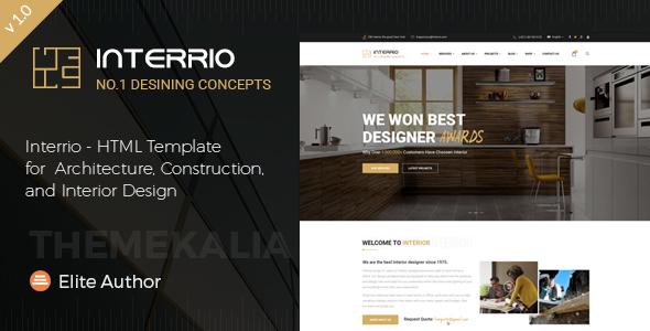 Interrio - HTML Template for Architecture, Construction, and Interior Design