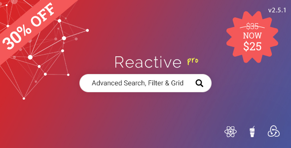 Reactive Pro - Advanced WordPress search, filtering & grid - CodeCanyon Item for Sale