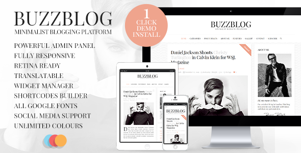 01 Showcase BUZZBLOG small.  large preview - BuzzBlog - Clean and Personal WordPress Blog Theme