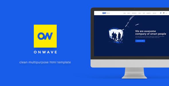 OnWave — Multipurpose Responsive HTML Template (Corporate) Download