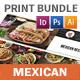 Mexican Restaurant Menu Print Bundle